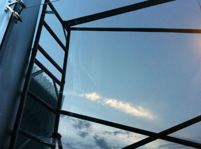 Shop Front Glass Scratch Removal